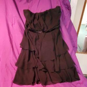 Torrid black strapless layer dress size 1